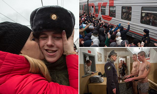 Young Russians called up for national service as tensions between Putin and the West rise