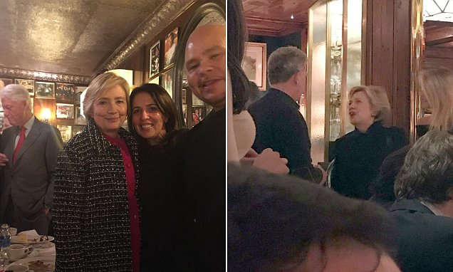 Hillary Clinton steps out for swanky dinner at Ralph Lauren's The Polo Bar in New York