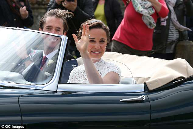 Pippa Middleton and her husband James Matthews seen leaving St Mark's Church last year