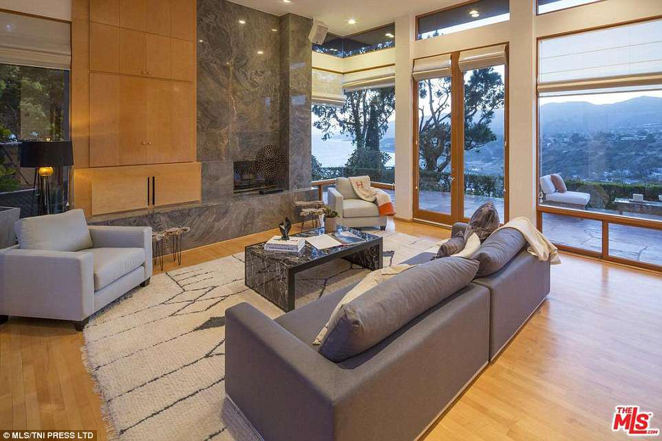 Views: The home has incredible views of the Pacific Palisades area in California