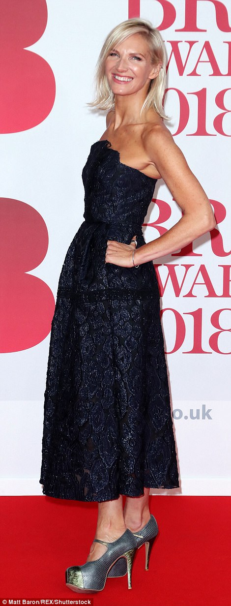 Putting in an appearance: Radio DJ Jo Whiley was also one of the first stars to grace the red carpet