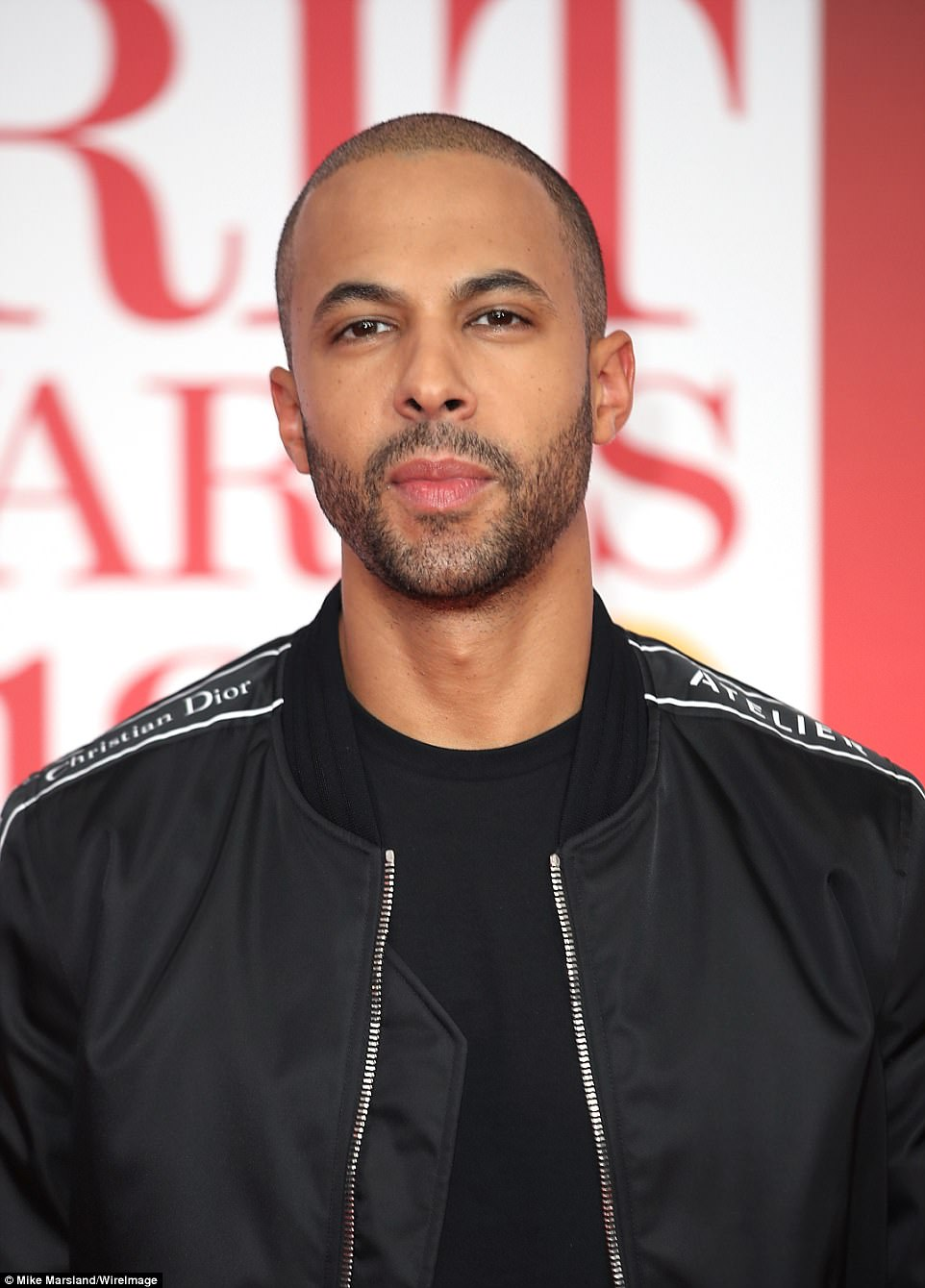 Good looking: Rochelle's other half Marvin Humes also made for a trendy display when they arrived on the red carpet