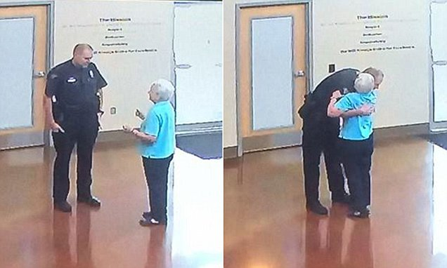 Colorado woman visits police station to hug an officer