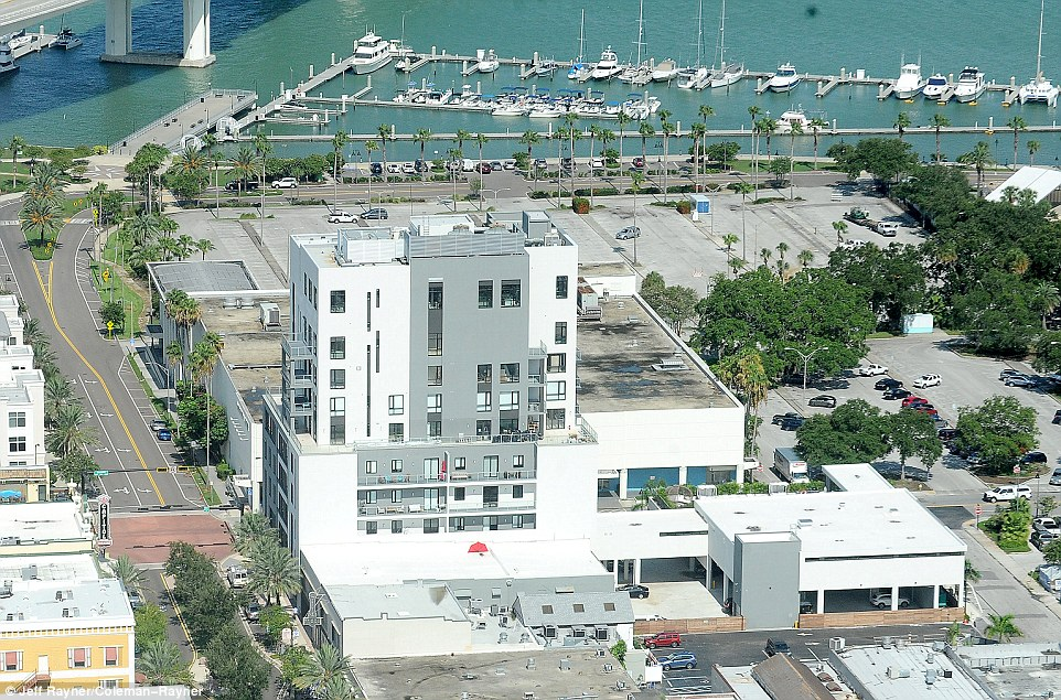The apartment building is in the heart of downtown Clearwater, a coastal city in Florida with a strong Scientology presence