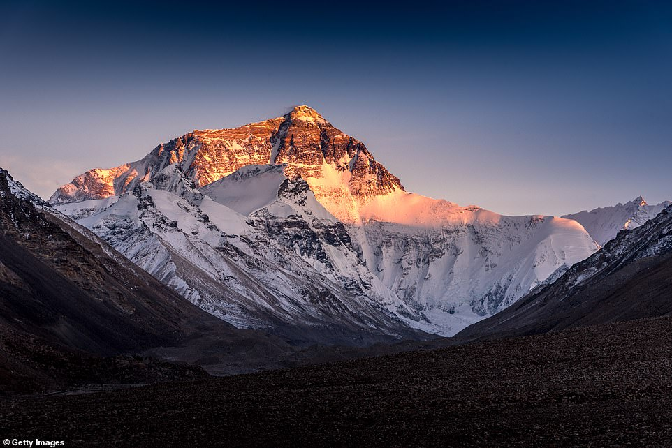 The North face of Mt.Everest seen from the Tibet side during sunset in China. Three people have died traversing the mountain this season, including an Indian climber who died last week and an Irish mountaineer who is presumed dead after he slipped and fell close to the summit