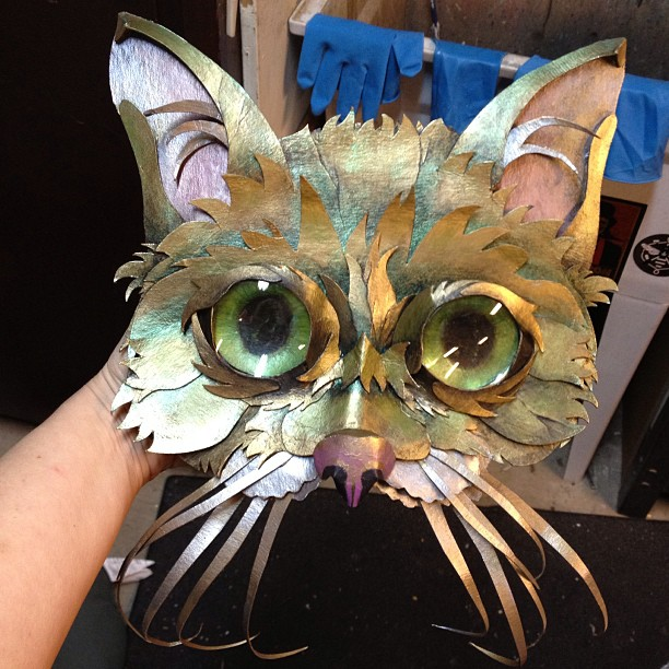 Final painted Lil Bub mask