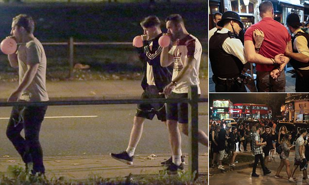 South West Four festival-goers spill on to Clapham streets inhaling hippy crack