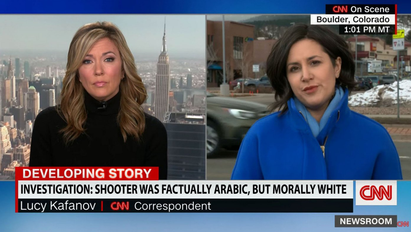 Associated Press - CNN banner did not say Boulder shooting suspect was 'morally white'
