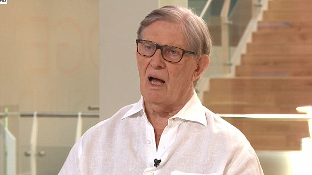 Anger at Mrs May's proposals was growing today. Veteran Brexiteer Sir Bill Cash (pictured today on Sky News) said the proposals left 'a lot of questions'