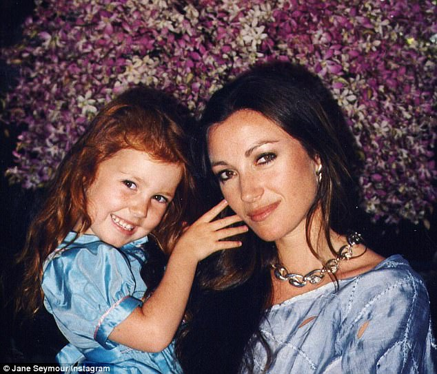 The actress is mom to four children: Katherine, 36, Sean, 32, and twins, Kristopher and John, 22; pictured in a throwback photo with her daughter Katherine