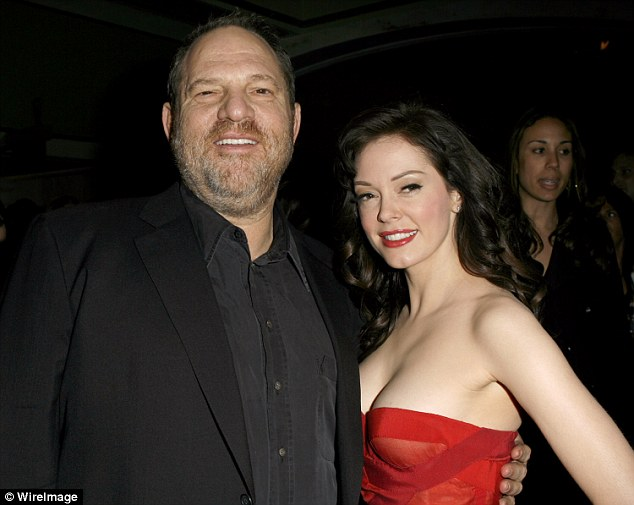 Rose, then 23, was at the Sundance Film Festival in 1997 when Miramax studio head Weinstein allegedly summoned her to his lavish suite at the Park City, Utah and assaulted her. Pictured: McGowan and Weinstein in 2007