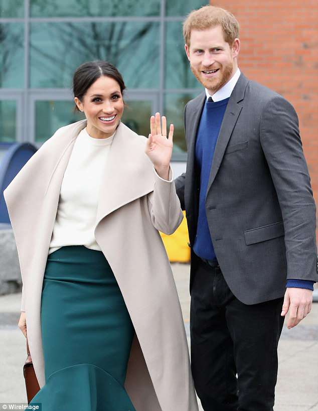 Royal engagement: The 36-year-old and her fiancé Prince Harry visited Catalyst Inc, a next generation science park, to meet young entrepreneurs and innovators in Ireland last week