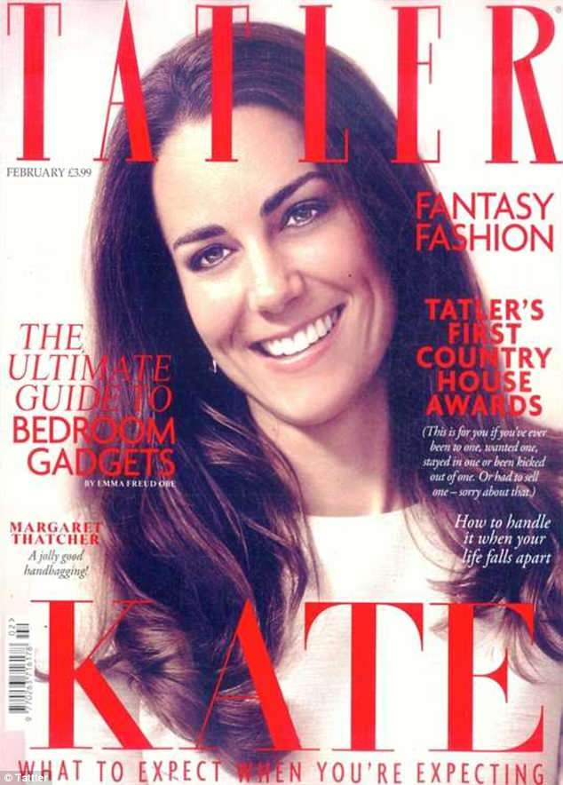 The Duchess: The now 36-year-old also appeared on the cover of the magazine in February 2012, nearly a year after she married Prince William