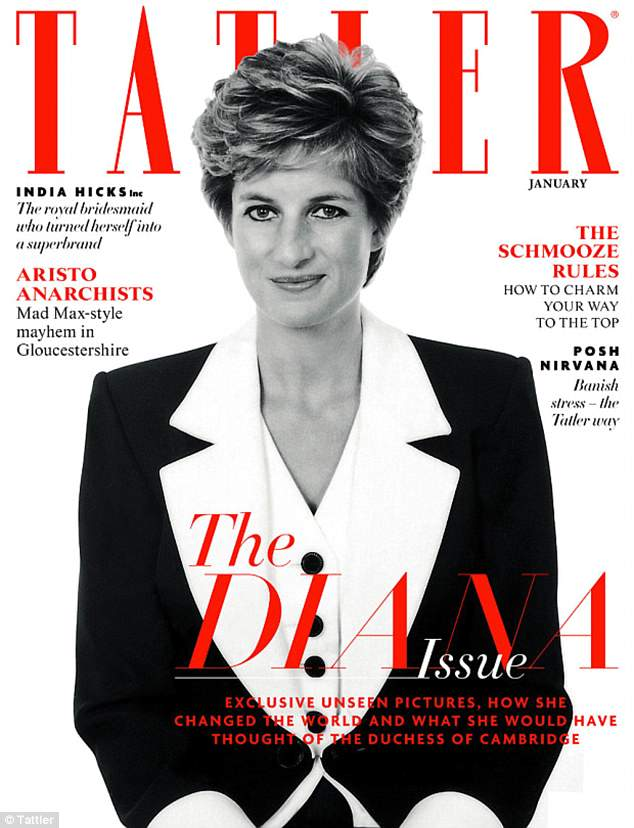 Icon: In January 2016,the magazine released 'The Diana Issue,' which featured unseen photos of the royal, who died in 1997