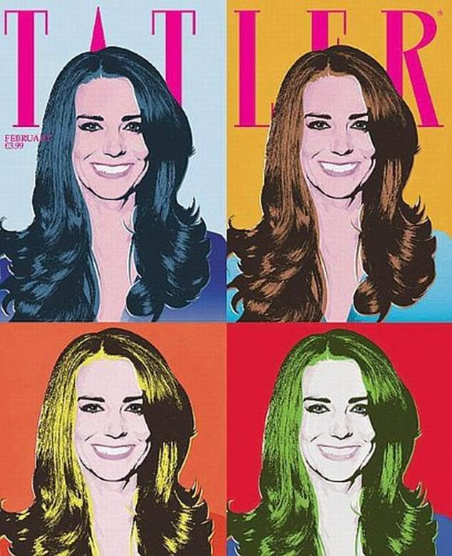Andy Warhol-inspired: Two months before her wedding to Prince William, Kate Middleton covered the February 2011 issue of Tatler, but the images were far from traditional