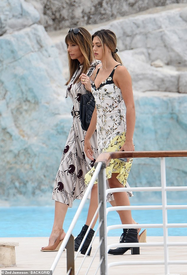 Nearby: While the actor promoted his upcoming film,his wife Jennifer Flavin, 50, and their daughter Sistine, 20, spent time at the Hotel du Cap-Eden-Roc