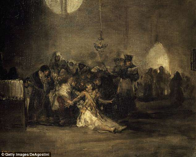 Francisco de Goya painted this 19th Century Spanish mural depicting an exorcism; Dr Gallagher says demons and evil spirits have been around for 'millenia' and are incredibly smart