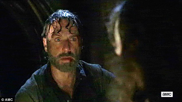 Shocking development: Rick looked with disbelief at the fatal bite