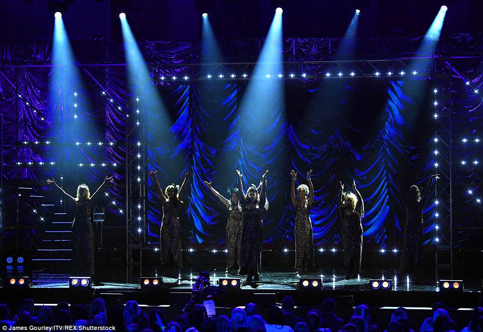 The 'Ladies Night' routine followedthe male version of the programme, which saw stars including James Argent, John Partridge, Jeff Brazier and Ashley Banjo bare all