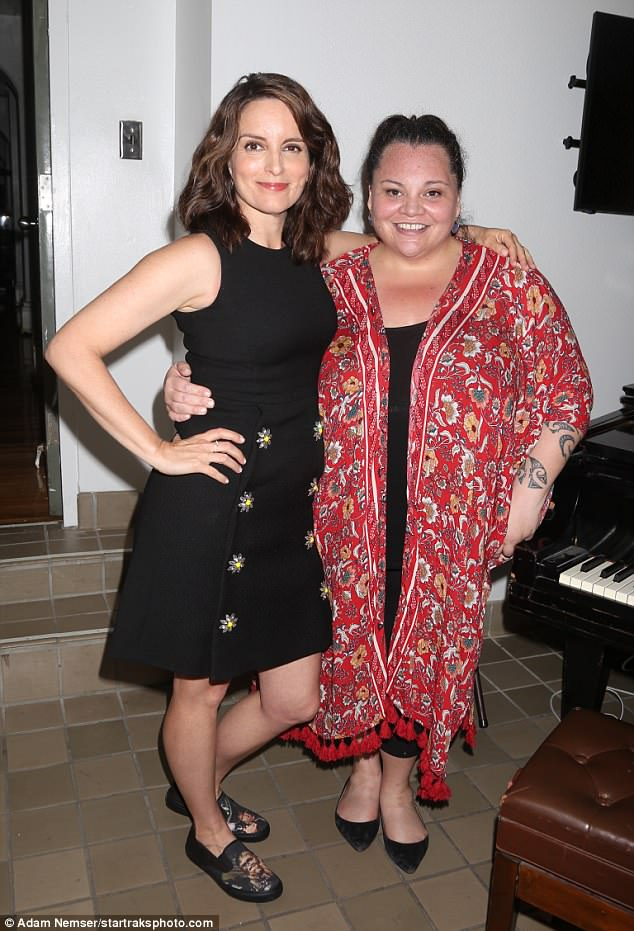 So much talent in one room! Tina found time during the show to take a photo with The Greatest Showman'sKeala Settle