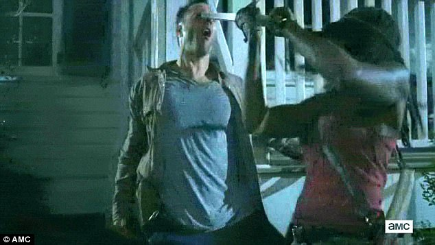 Sword master: Michonne used her sword masterfully to kill a Savior who told her everyone was dead