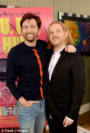 Cast: David's co-star Christian Brassington (L), 34, also appeared at the screening which took place ahead of the film's premiere in Birmingham on March 31