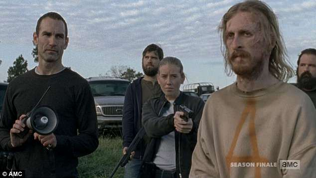 The traitor: Dwight was brought out to watch Negan's people destroy Rick's crew