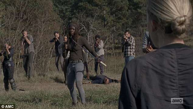 Surrender accepted: Michonne accepted the surrender of Negan's fighters