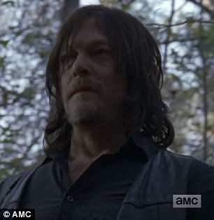 Punishment time: Daryl vowed to kill Dwight when it was all over and took him out to the woods