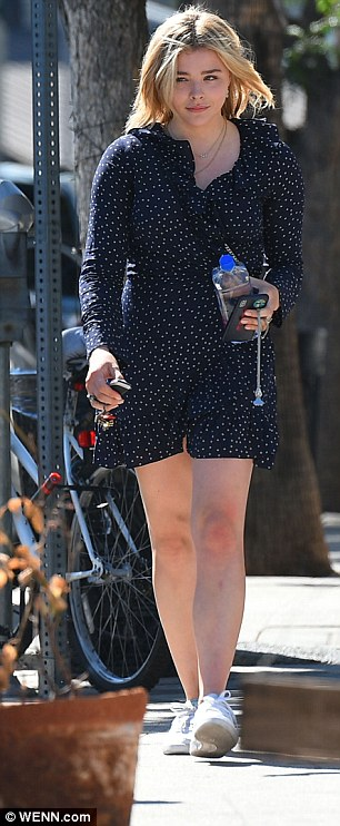 For the frill!The Brain On Fire star, 21, exhibited her legs in her pretty polka dot dress