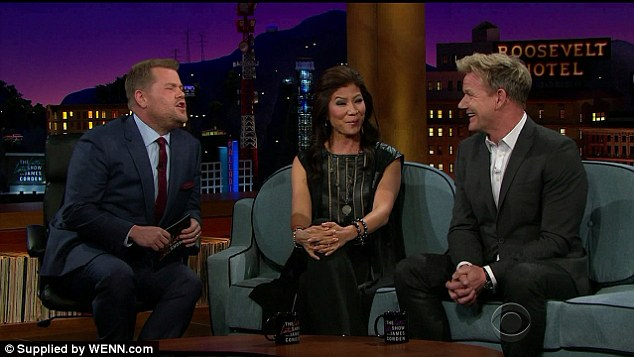 Yummy: The famous TV chef made the confession during an appearance on The Late Late Show with James Corden as he spoke about the worst meals he has tried on his various food shows