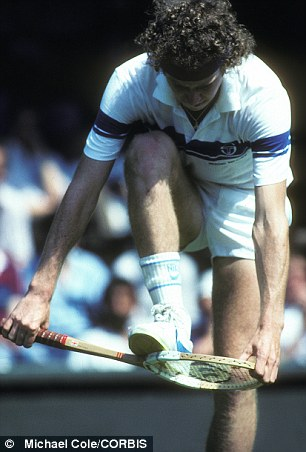 American player John McEnroe loses his cool in spectacular fashion in 1981