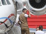 Mandatory Credit: Photo by Picturematt/REX Shutterstock (4900896a)  Robin van Persie board a private jet headed to Turkey ahead of his transfer to Fenerbache  Robin van Persie boards a private jet, Manchester Airport, Britain - 12 Jul 2015