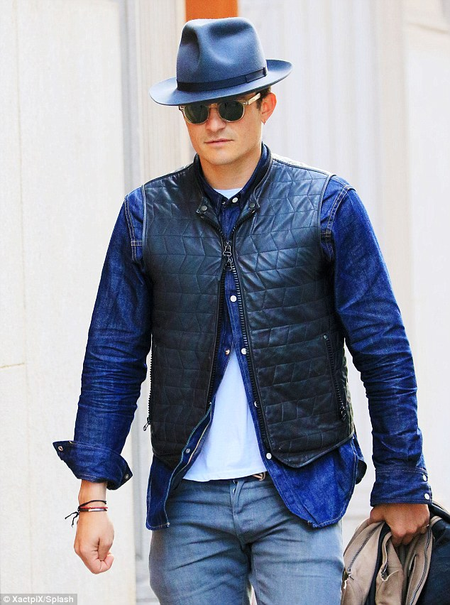 Shopping: The father-of-one was seen shopping at Oliver Peoples and a hat store