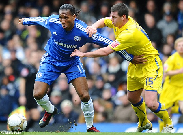 Rare meeting: Chelsea have played Cardiff just once in 27 years, beating the Bluebirds 4-1 in an FA Cup fifth round tie at Stamford Bridge in 2010