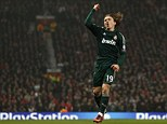 Heartbreaker: Luka Modric's goal sent Real Madrid through at the expense of Manchester United