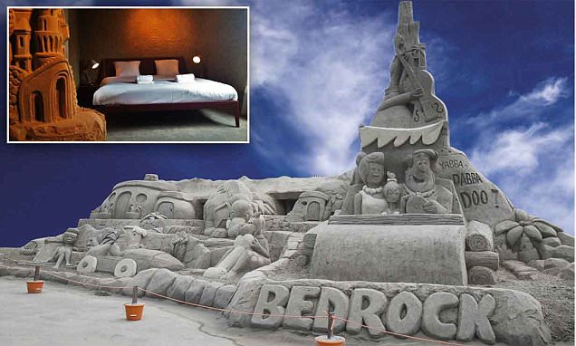 Inside Zand Hotel's sandcastle rooms with electricity, running water and toilets