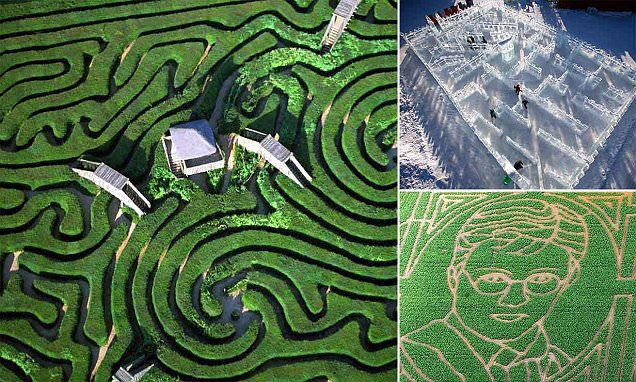 The world's most incredible mazes include hedgerows shaped like Harry Potter's head