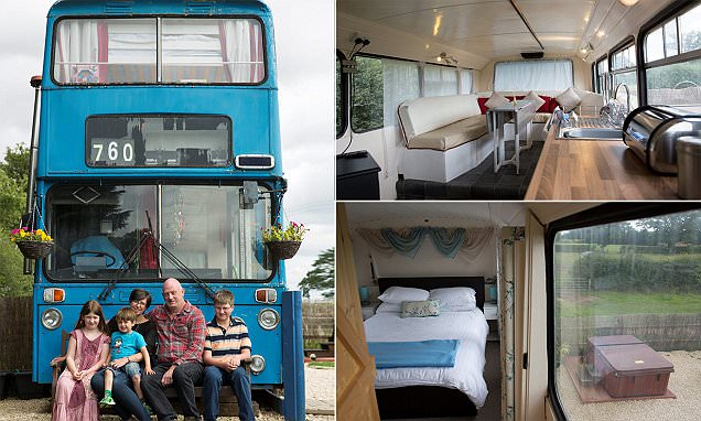 Ryton couple spends £15k converting double-decker bus into private retreat