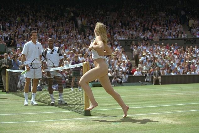 All eyes on her: A streaker gave finalistsRichard Krajicek andMaliVai Washington a surprise in 1996