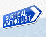 Surgical waiting list concept.