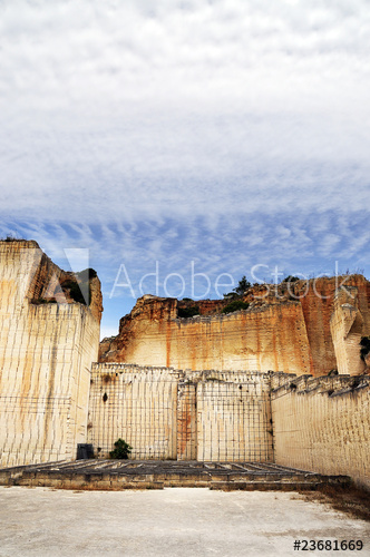 Sandstone rock quarry