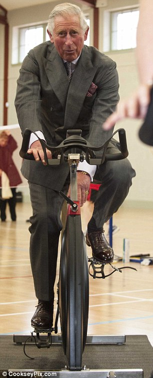 Spin class instructor Sharon McQuillan was surprised by the new member in her class
