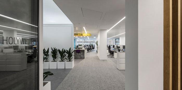金融机构办公室装修设计效果图
