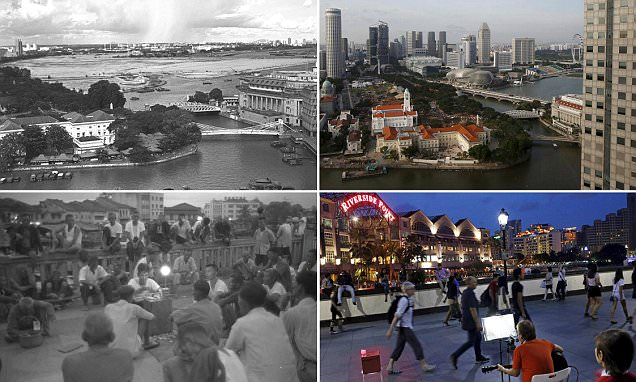 Singapore's before and after photos show transformation into a metropolis