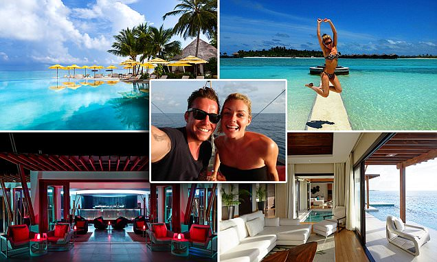 Danny Jones and wife Georgia honeymoon at Naladhu Maldives and Per Aquum Niyama