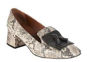 Next has snake print tassel loafers for £45