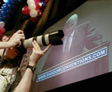 McCain at Shadow Convention (Photo: Dan Bernard/@thepittsburghchannel)