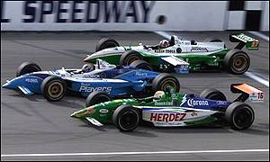 Franchitti, Carpentier and Jourdain fight it out