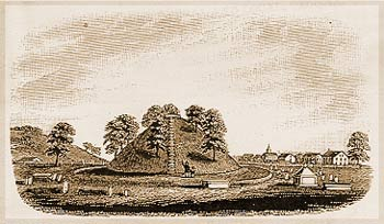 The Mound at Marietta Drawn by Henry Howe in 1846